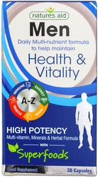 Natures Aid Men Health & Vitality 30 Capsules