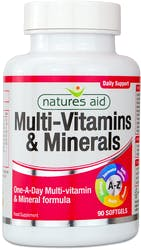 Natures Aid Multi-Vitamins & Minerals with Iron 90 Softgels