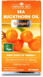 Natures Aid Omega-7 Sea Buckthorn Oil 60 Softgels