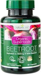 Nature's Aid Organic Beetroot 462mg 60 Capsules