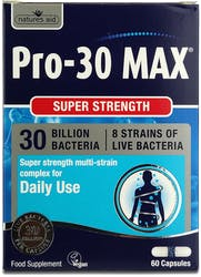 Natures Aid Pro 30 MAX (30 Bill Bac) 60 Capsules