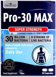 Nature's Aid Pro 30 MAX (30 Bill Bac) 60 Capsules