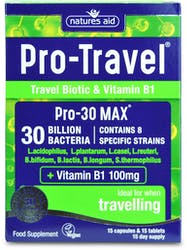 Natures Aid Pro-Travel (Pro-30 MAX Vit B1) 15 Day Supply