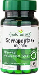 Natures Aid Serrapeptase 80,000iu 30 Tablets