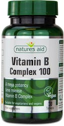 Natures Aid Vitamin B Complex 100 (Mega Potency) Time Release 30 Tablets