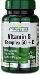 Nature's Aid Vitamin B Complex 50 with Vitamin C 30 Tablets