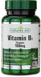 Natures Aid Vitamin B1 Thiamin 100 mg 90 Tablets