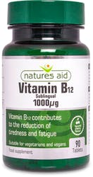 Natures Aid Vitamin B12 1000ug(Sublingual) 90 Tablets
