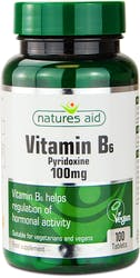 Natures Aid Vitamin B6 High Potency 100mg 100 Tablets