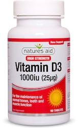 Nature's Aid Vitamin D3 1000iu (25µg)  90 Tablets