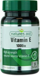 Natures Aid Vitamin E 1000iu Natural Form 30 softgels