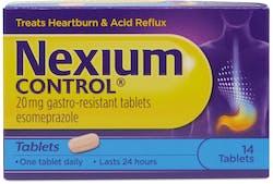 Nexium Control 20mg Gastro-Resistant Tablets 14 Tablets