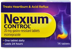Nexium Control 20mg Gastro-Resistant Tablets 14 Tablets