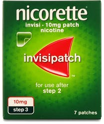 Nicorette 10mg Invisi-Patch Step 3 7s
