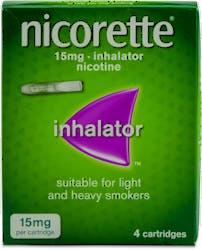 Nicorette 15mg Inhalator 4 Cartridges