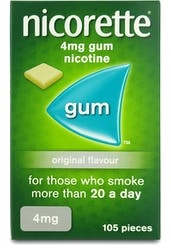 Nicorette Chewing Gum 4mg Original 105s