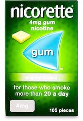 Nicorette Chewing Gum 4mg Original 105s