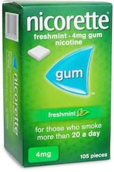 Nicorette Freshmint 4mg Gums 105 Gums