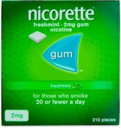 Nicorette Freshmint Gum 2mg 210s