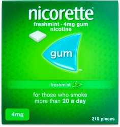 Nicorette Freshmint Gum 4mg 210s