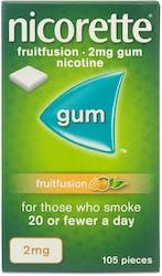 Nicorette Fruit Fusion Gum 2mg 105s