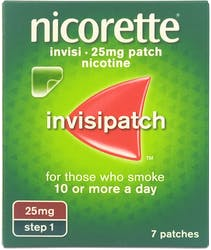 Nicorette Invisi Patch 25mg 7s