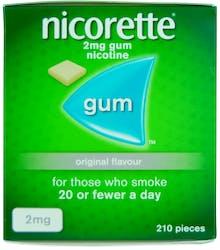 Nicorette Original Gum 2mg 210s