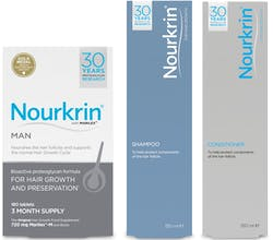 Nourkrin Man Value Pack 3 Month Supply With FREE Shampoo & Conditioner