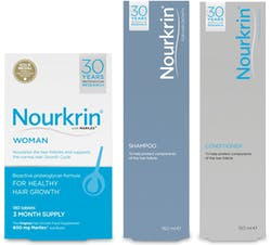 Nourkrin Woman Value Pack 3 Month Supply With FREE Shampoo & Conditioner