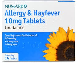 Numark Loratadine 10mg Allergy & Hayfever 14 Tablets