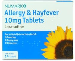 Numark Allergy and Hayfever Loratadine 14 Tablets