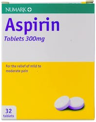 Numark Aspirin 300mg 32 Tablets