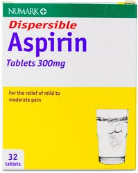 Numark Aspirin 300mg Dispersible 32 Tablets