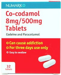 Numark Co-codamol 8mg/500mg 32 Tablets
