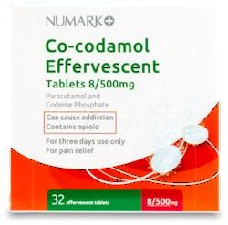 Numark Co-codamol Effervescent 500mg 32 Tablets