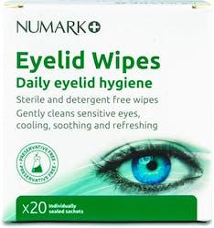 Numark Eyelid Wipes 20s