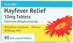 Numark Hayfever Relief Cetirizine 10mg 60 Tablets