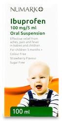 Numark Ibuprofen 100mg/5ml Oral Suspension 100ml