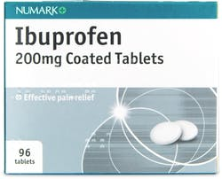 Numark Ibuprofen 200mg 96 Coated Tablets