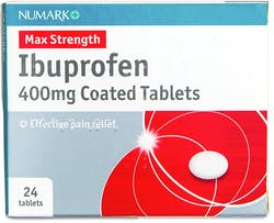 Numark Ibuprofen 400mg 24 Coated Tablets