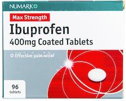 Numark Ibuprofen 400mg 96 Coated Tablets