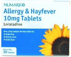 Numark Loratadine 10mg Allergy & Hayfever 30 Tablets