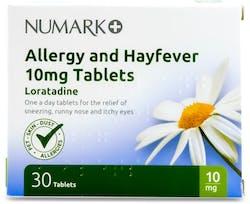 Numark Loratadine 10mg Allergy & Hayfever 30 Tablets