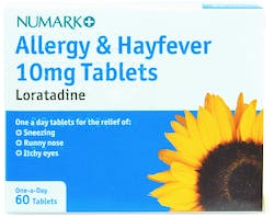 Numark Loratadine 10mg Allergy & Hayfever 60 Tablets
