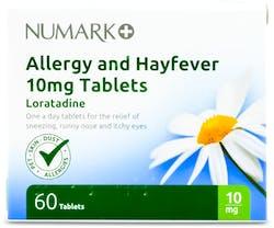 Numark Loratadine 10mg Allergy & Hayfever 60 Tablets