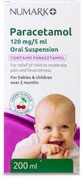 Numark Paracetamol Suspension 120mg/5ml 200ml