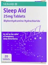 Numark Sleep Aid 25mg 20 Tablets