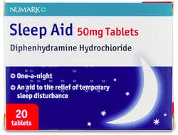 Numark Sleep Aid 50mg 20 Tablets