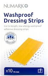 Numark Washproof Dressing Strips 10 x 6cm 10 Pack