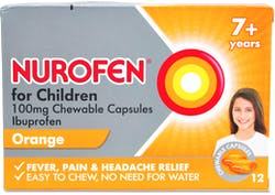Nurofen 7 + Years Orange  12 Chewable Capsules